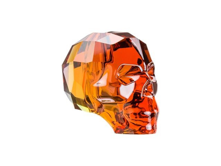 Swarovski 5750 13mm Skull Bead Crystal Red Magma