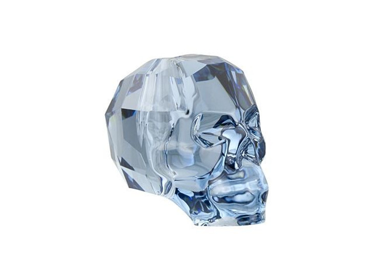 Swarovski 5750 13mm Skull Bead Denim Blue