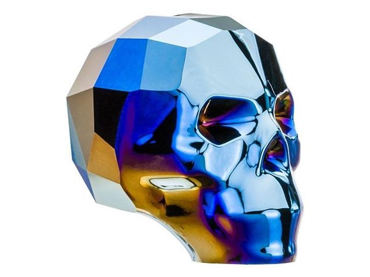 Swarovski 5750 19mm Skull Bead Crystal Metallic Blue 2X