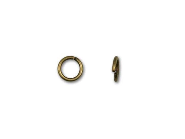 4.5mm Antique Brass-Plated 21 Gauge Open Jump Ring
