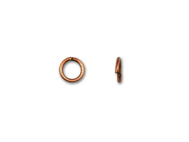 4.5mm Antique Copper-Plated 21 Gauge Open Jump Ring