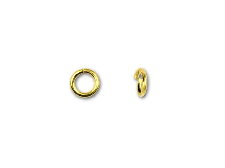 4.5mm Gold-Plated 21 Gauge Open Jump Ring