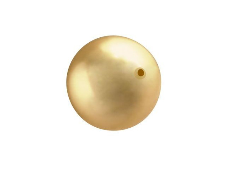 Swarovski 5810 10mm Crystal Pearl Bright Gold