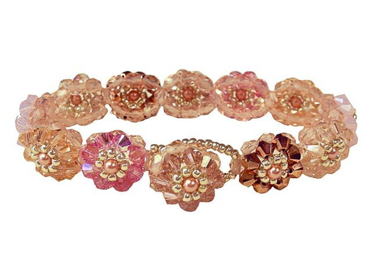 Cameo Blush Blooming Crystals Bracelet Kit
