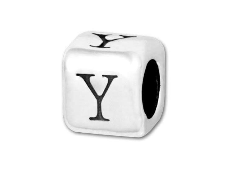 4.5mm Sterling Silver Alphabet Bead - Y