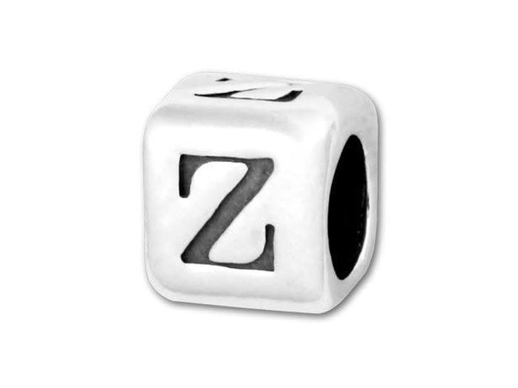 4.5mm Sterling Silver Alphabet Bead - Z