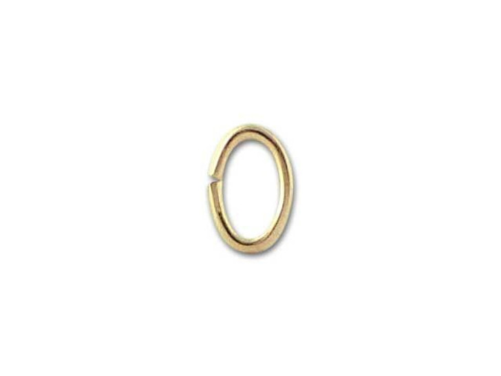 4.5x3mm Gold-Filled 14K/20 Oval Open Jump Ring, 21 gauge