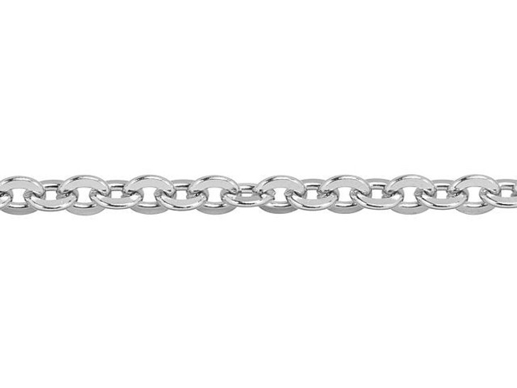 4.75x4mm Stainless Steel Hammered Flat Cable Chain By the Foot
