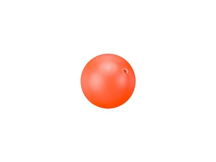 Swarovski 5810 6mm Round Crystal Pearl Neon Orange