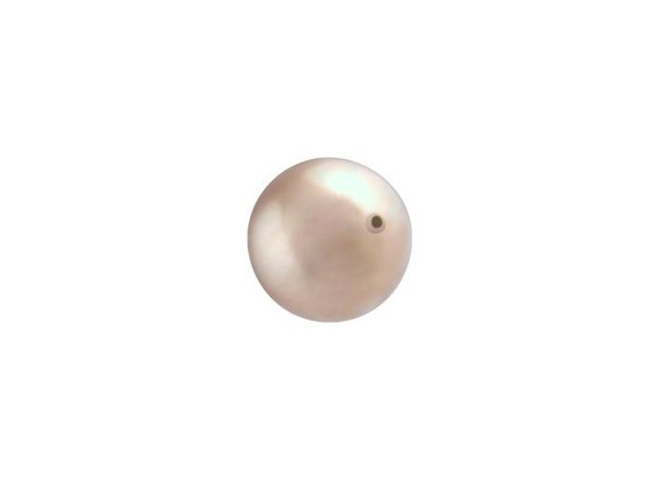 Swarovski 5810 6mm Round Crystal Pearl Powder Almond