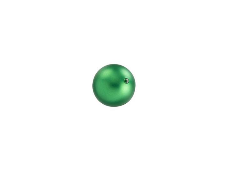 Swarovski 5810 6mm Round Pearl Crystal Eden Green