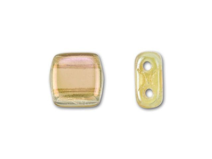 CzechMates Glass 6mm Twilight Jonquil Two-Hole Tile Bead