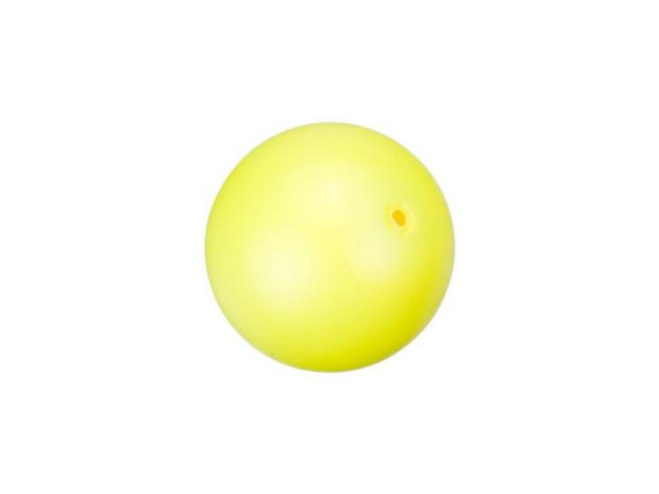 Swarovski 5811 12mm Round Crystal Pearl Large Hole Neon Yellow