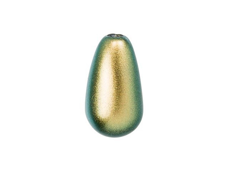 Swarovski 5816 11.5x6mm Teardrop Crystal Pearl Iridescent Green