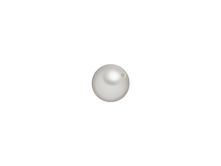 Swarovski 5818 4mm Round Half-Drilled Crystal Pearl White