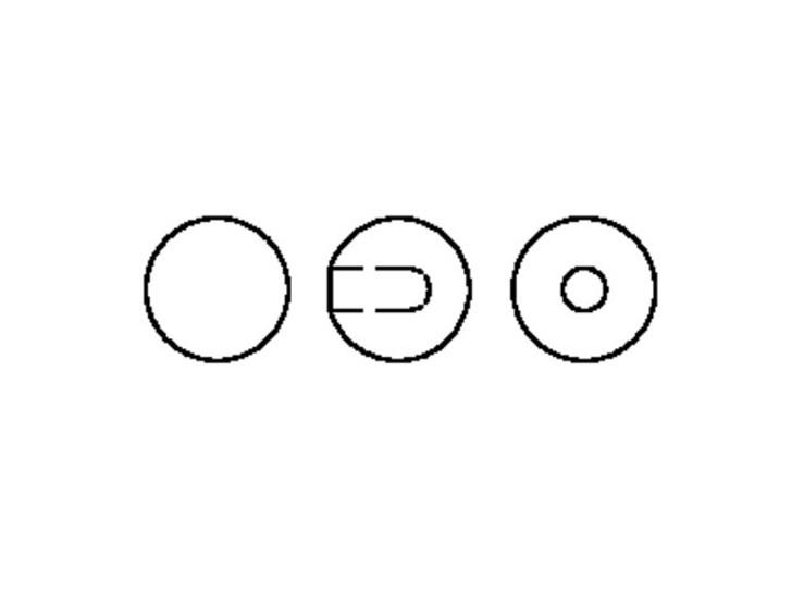 Swarovski 5818 6mm Half-Drilled Crystal Pearlescent White Pearl