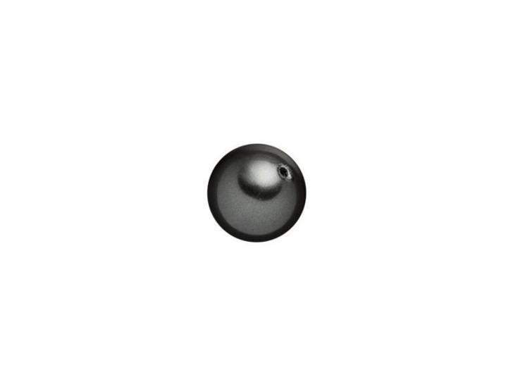 Swarovski 5818 6mm Round Half-Drilled Crystal Pearl Black