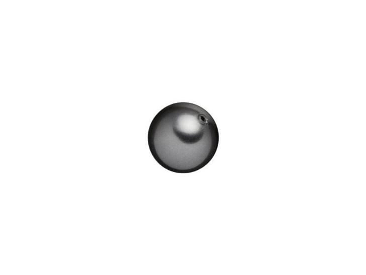 Swarovski 5818 6mm Round Half-Drilled Crystal Pearl Dark Grey