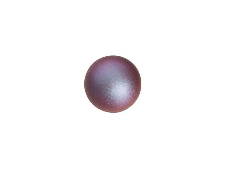 Swarovski 5818 6mm Round Half-Drilled Pearl Crystal Iridescent Red