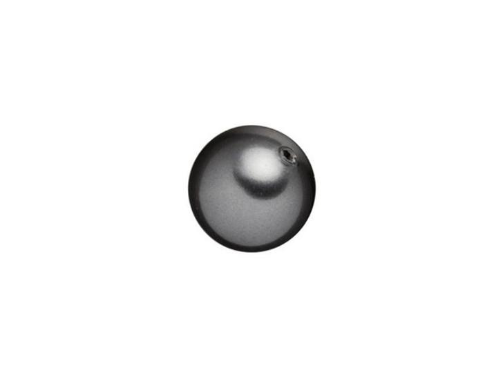 Swarovski 5818 8mm Round Half-Drilled Crystal Pearl Dark Grey