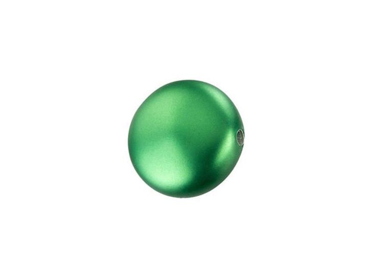 Swarovski 5860 10mm Coin Pearl Crystal Eden Green