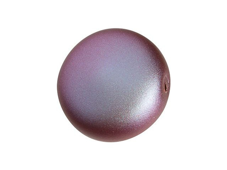 Swarovski 5860 12mm Coin Pearl Crystal Iridescent Red