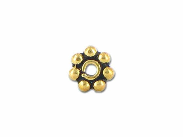 4mm Antiqued Gold Vermeil Daisy Spacer