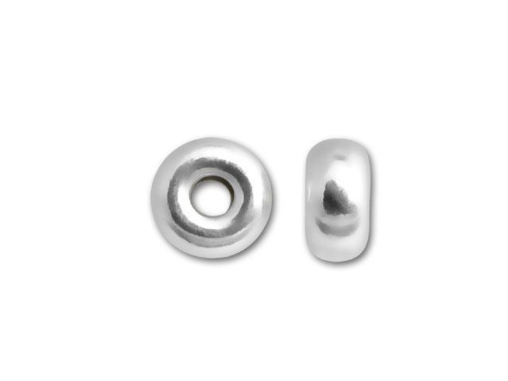 4mm Bright Sterling Silver Roundel Bead