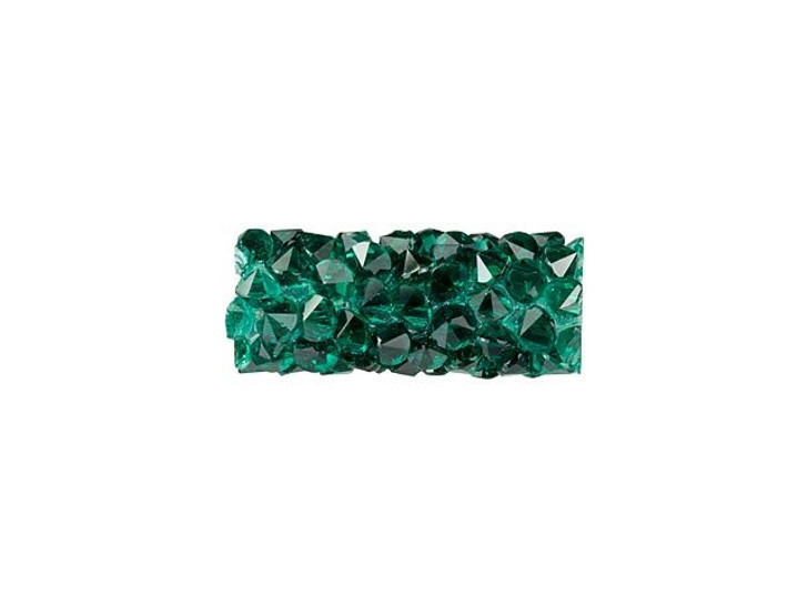 Swarovski 5951 15mm Emerald Fine Rocks Tube Bead without Ending