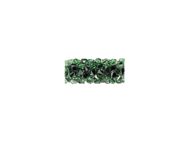 Swarovski 5951 15mm Erinite Fine Rocks Tube Bead without Ending