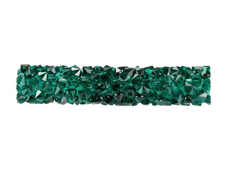 Swarovski 5951 30mm Emerald Fine Rocks Tube Bead without Ending