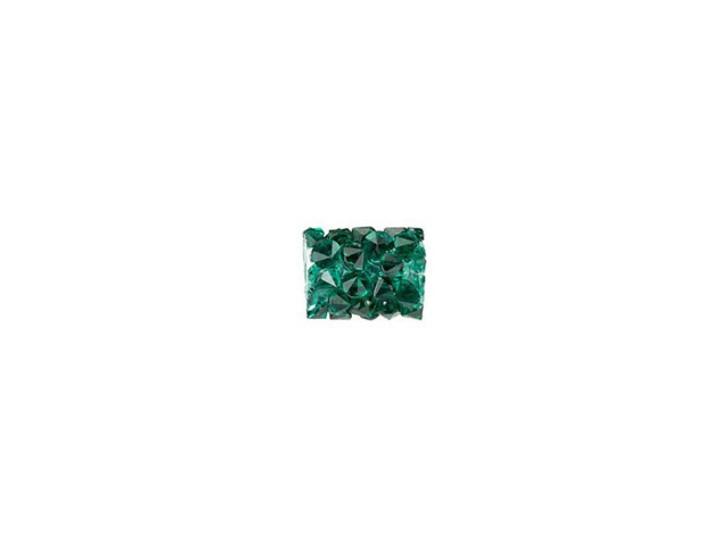 Swarovski 5951 8mm Emerald Fine Rocks Tube Bead without Ending