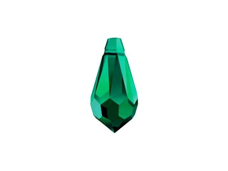 Swarovski 6000 11mm Teardrop Pendant Emerald