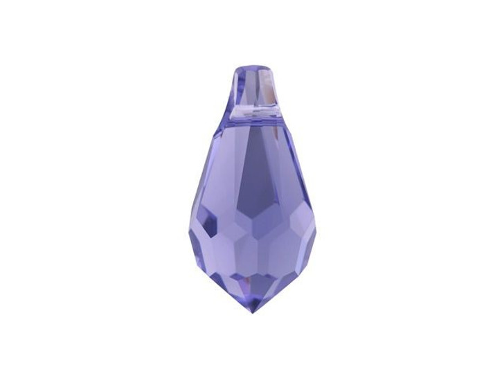 Swarovski 6000 11mm Teardrop Pendant Tanzanite