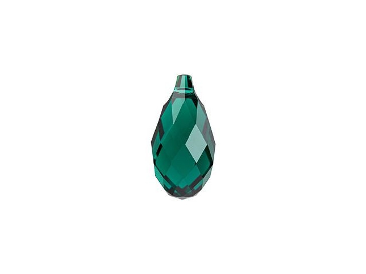 Swarovski 6010 11mm Briolette Pendant Emerald