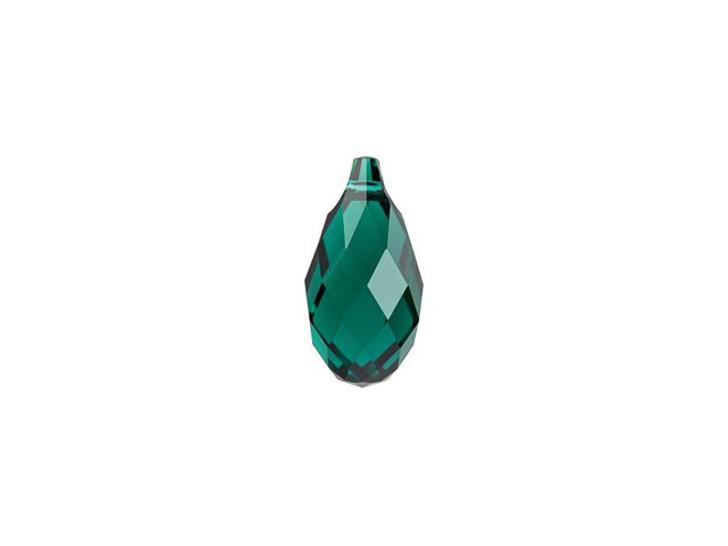 Swarovski 6010 13m Briolette Pendant Emerald