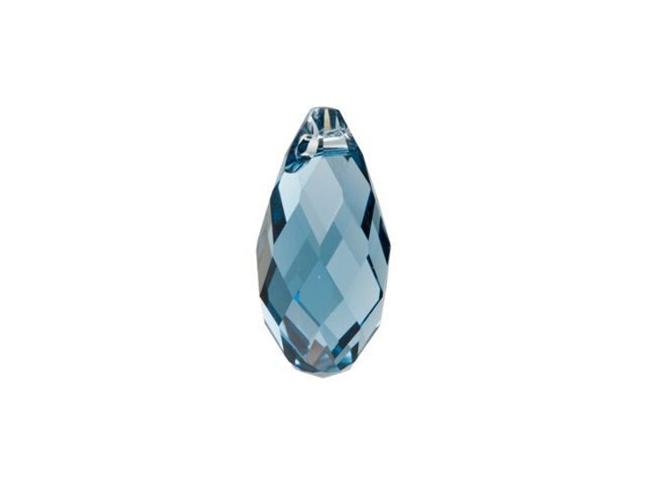 Swarovski 6010 13x6.5mm Briolette Pendant Denim Blue