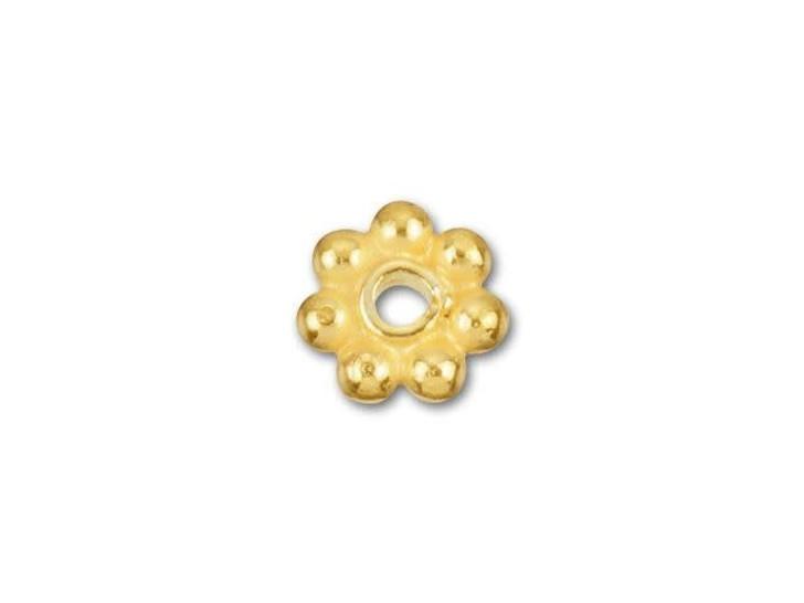 4mm Gold Vermeil Daisy Spacer