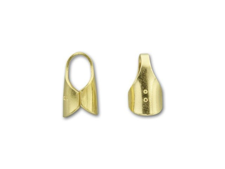 4mm Gold-Filled Round End Cap with Loop