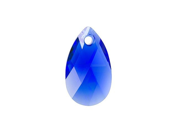 Swarovski 6106 16mm Pear-Shaped Pendant Majestic Blue