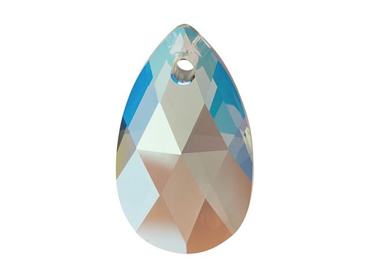Swarovski 6106 22mm Pear-Shaped Pendant Black Diamond Shimmer
