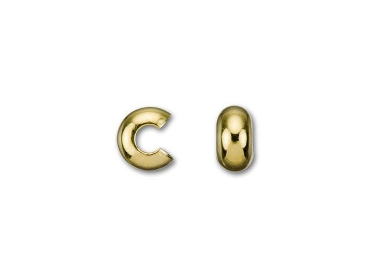 4mm Gold-Plated Crimp Cover
