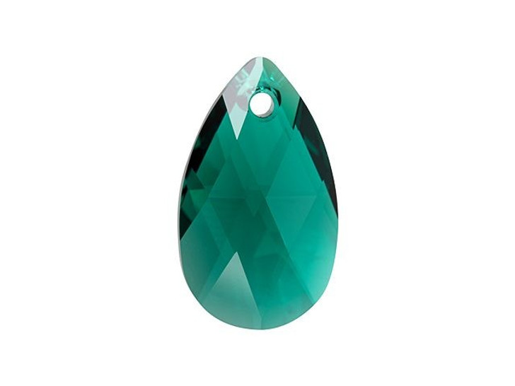 Swarovski 6106 22mm Pear-Shaped Pendant Emerald