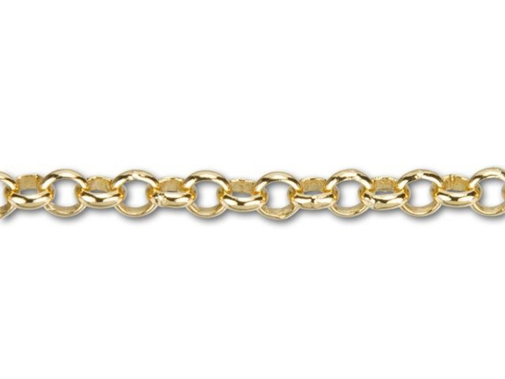 4mm Gold-Plated Rolo Chain By the Foot