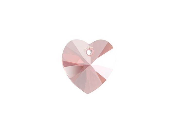 Swarovski 6228 18mm XILION Heart Pendant Rose Peach Shimmer