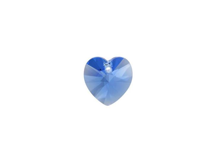 Swarovski 6228 18mm XILION Heart Pendant Sapphire