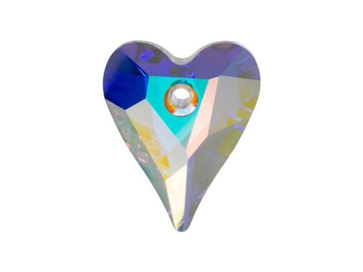 Swarovski 6240 12mm Wild Heart Pendant Crystal AB