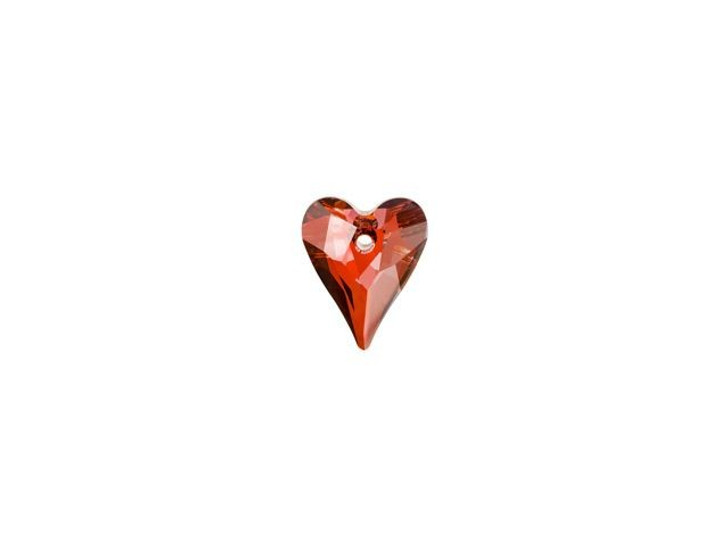 Swarovski 6240 12mm Wild Heart Pendant Crystal Red Magma