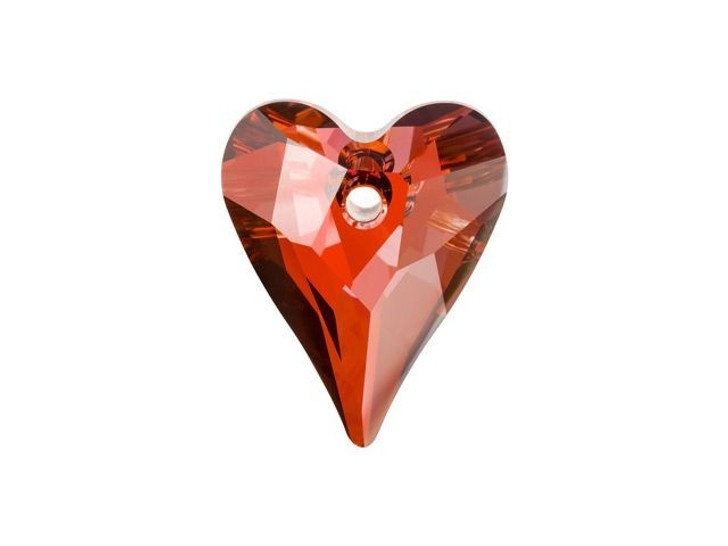 Swarovski 6240 27mm Wild Heart Pendant Crystal Red Magma