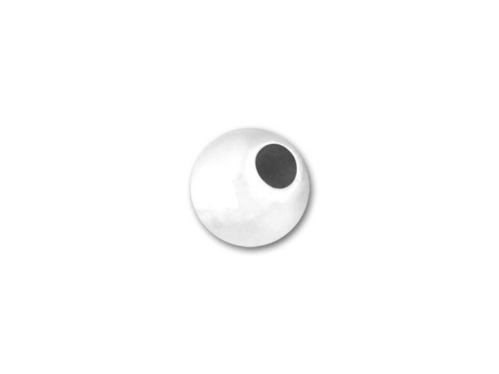 1.8mm hole 1x STERLING SILVER 7mm DIAMETER HOLLOW ROUND BEAD JEWELLERY MAKING